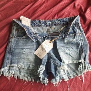 NWT Vanilla Star Jean Cutoff Shorts Size 3